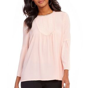 Gibson & Latimer Blush Blouse - Bell Sleeve 2x